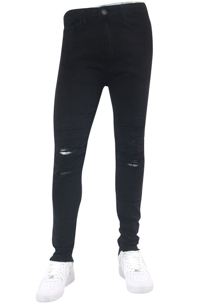 Moto Knee Skinny Fit Denim Black (BOM4723T)
