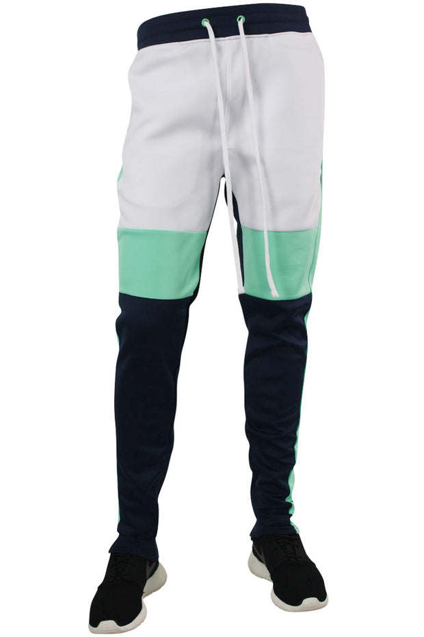 Color Block Track Pants Navy - Teal (1914) - Zamage