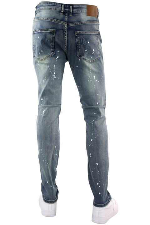 Destroyed & Faded Skinny Fit Denim Vintage Bleach (M4753D)