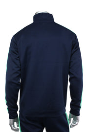 Color Block Track Jacket Navy - Teal (1915) - Zamage