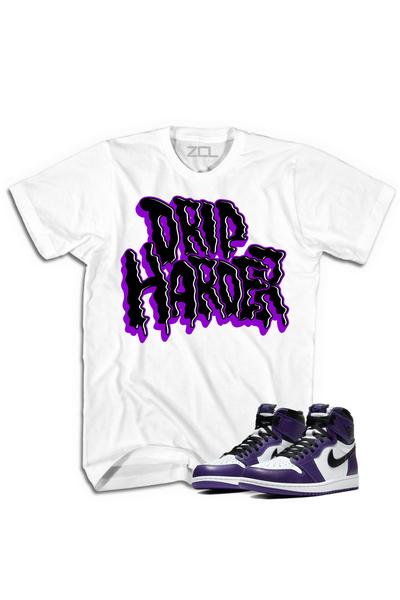 "Air Jordan 1 Retro High OG ""Drip Harder"" Tee Court Purple - Zamage"