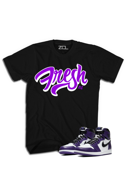 "Air Jordan 1 Retro High OG ""Fresh"" Tee Court Purple - Zamage"