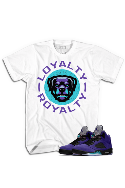 "Air Jordan 5 Retro ""Loyalty Royalty"" Tee Purple Grape - Zamage"