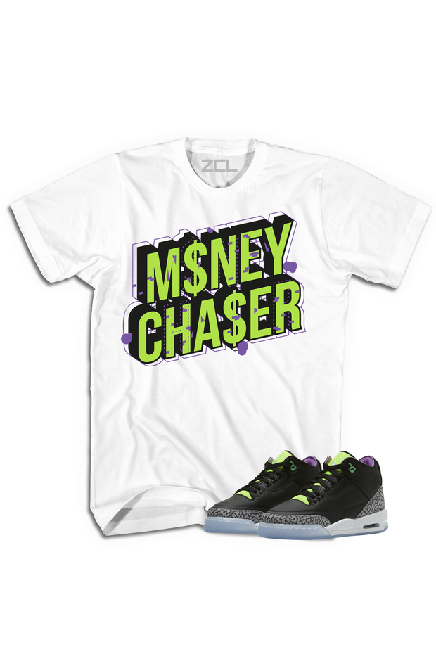 "Air Jordan 3 GS ""Money Chaser"" Tee Electric Green - Zamage"