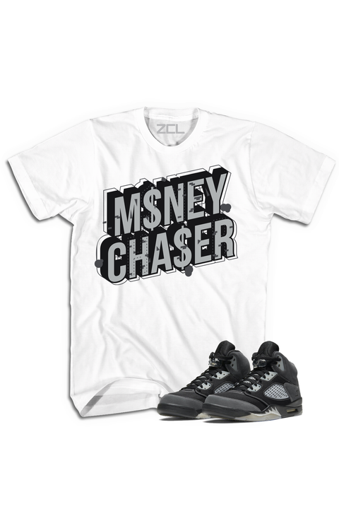 "Air Jordan 5 ""Money Chaser"" Tee Anthracite - Zamage"