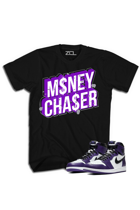 "Air Jordan 1 Retro High OG ""Money Chaser"" Tee Court Purple"