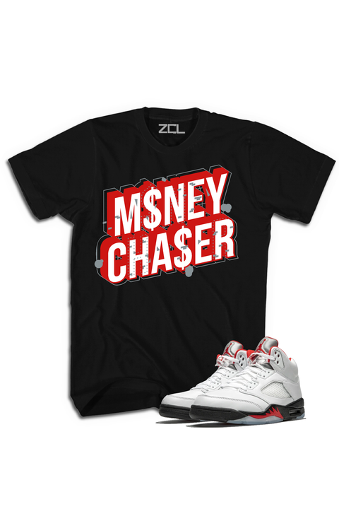 "Air Jordan 5 Retro ""Money Chaser"" Tee Fire Red"