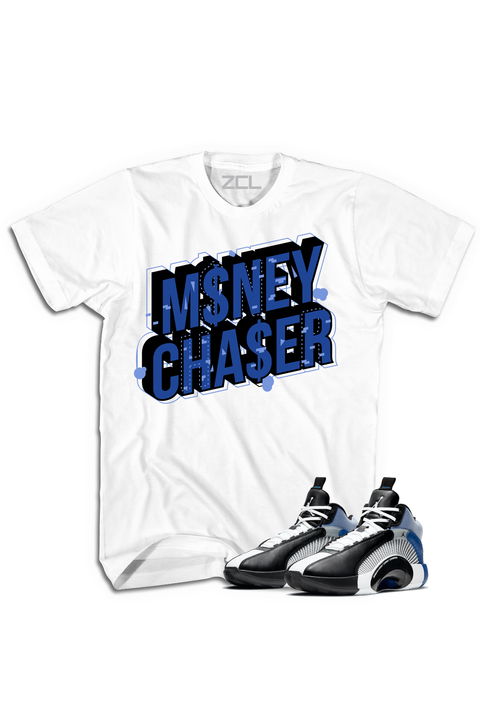 "Air Jordan X Fragment ""Money Chaser"" Tee Sport Blue"