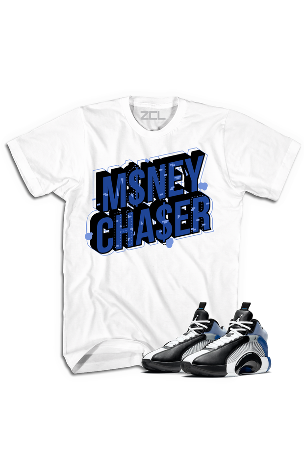 "Air Jordan X Fragment ""Money Chaser"" Tee Sport Blue - Zamage"