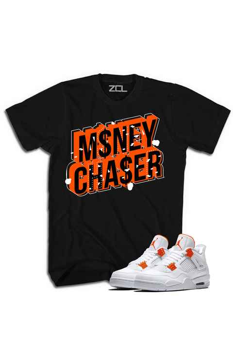 "Air Jordan 4 ""Money Chaser"" Tee Metallic Orange - Zamage"