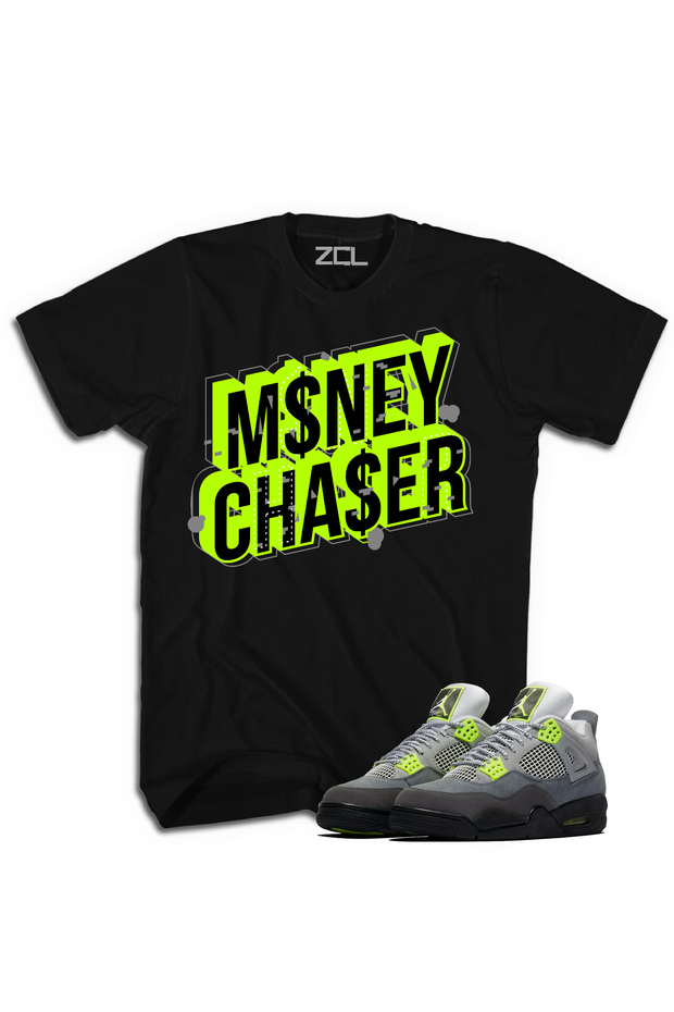 "Air Jordan 4 ""Money Chaser"" Tee Neon"