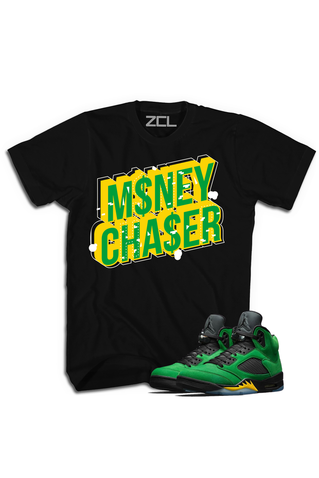 "Air Jordan 5 ""Money Chaser"" Tee Oregon Apple Green - Zamage"