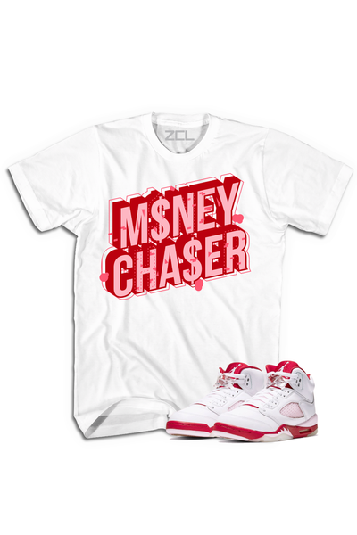 "Air Jordan 5 GS ""Money Chaser"" Tee Pink Foam - Zamage"