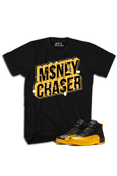 "Air Jordan Retro 12 ""Money Chaser"" Tee University Gold"