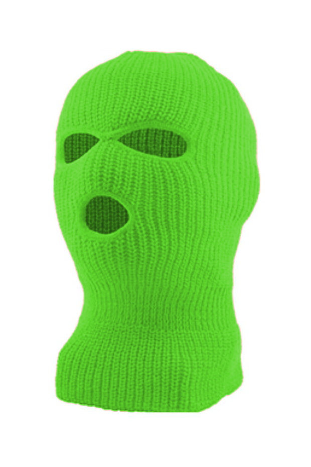 Full Face Mask Neon Green (SFBEAN011) - Zamage