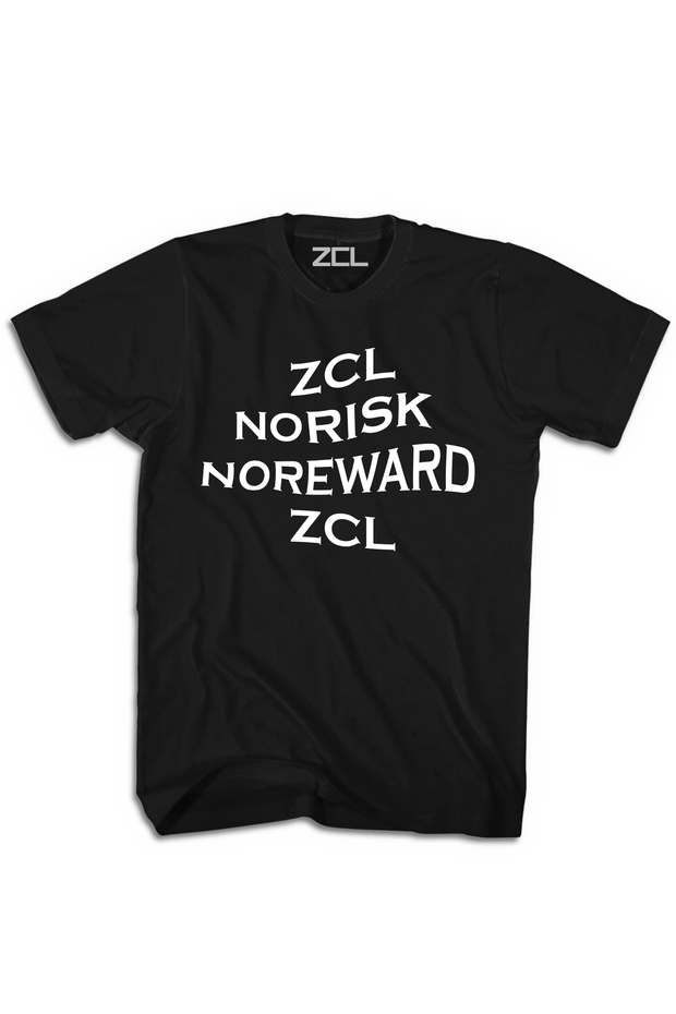 ZCL Stacked No Risk No Reward Tee Black - Zamage