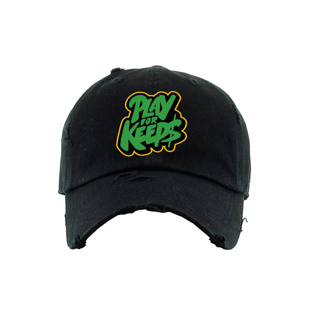 Play For Keeps Strapback Hat Black (ORH188)
