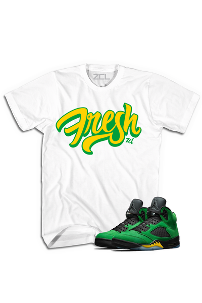 "Air Jordan 5 ""Fresh"" Tee Oregon Apple Green - Zamage"
