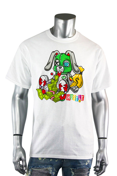 Hustle Bunny Tee White (DS5101) - Zamage
