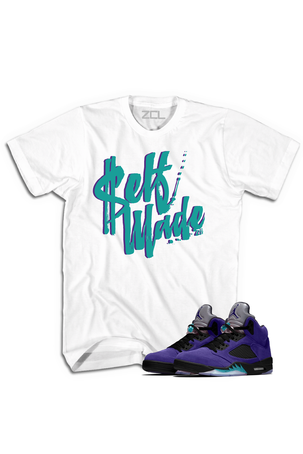"Air Jordan 5 Retro ""Self Made"" Tee Purple Grape - Zamage"