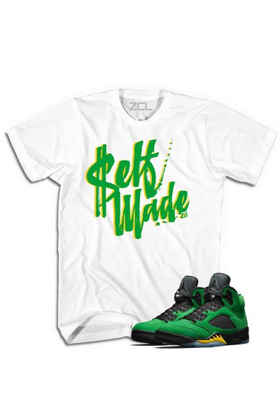 "Air Jordan 5 ""Self Made"" Tee Oregon Apple Green - Zamage"