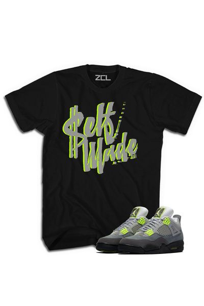"Air Jordan 4 Neon ""Self Made"" Tee - Zamage"