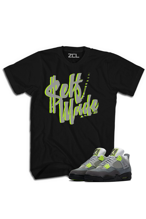 "Air Jordan 4 Neon ""Self Made"" Tee"