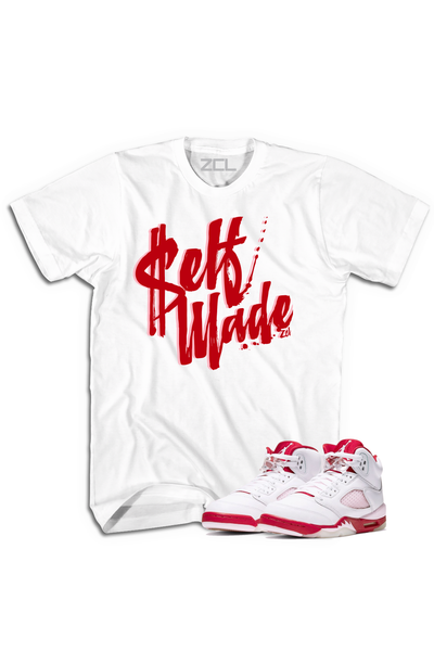"Air Jordan 5 GS ""Self Made"" Tee Pink Foam - Zamage"