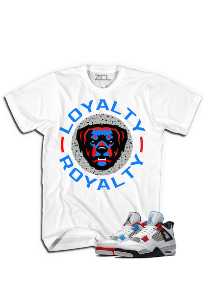 "ZCL Loyalty-Royalty  ""What The"" Jordan 4 HookUp  Tee White"