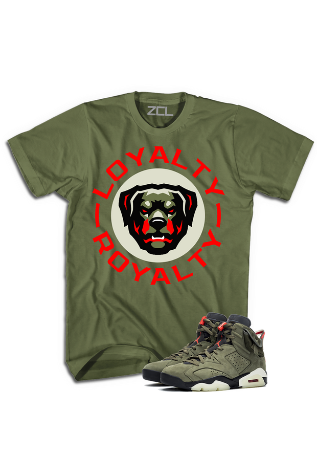 "ZCL Loyalty-Royalty Jordan ""Travis Scott"" HookUp Tee Olive - Zamage"