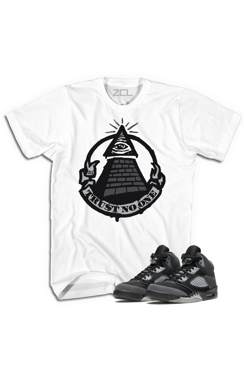 "Air Jordan 5 ""Trust No One"" Tee Anthracite - Zamage"