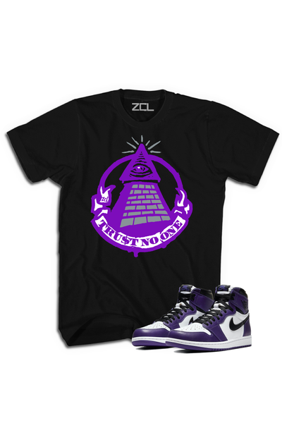 "Air Jordan 1 Retro High OG ""Trust No One"" Tee Court Purple - Zamage"