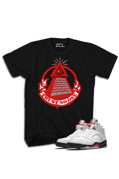 "Air Jordan 5 Retro ""Trust No One"" Tee Fire Red - Zamage"