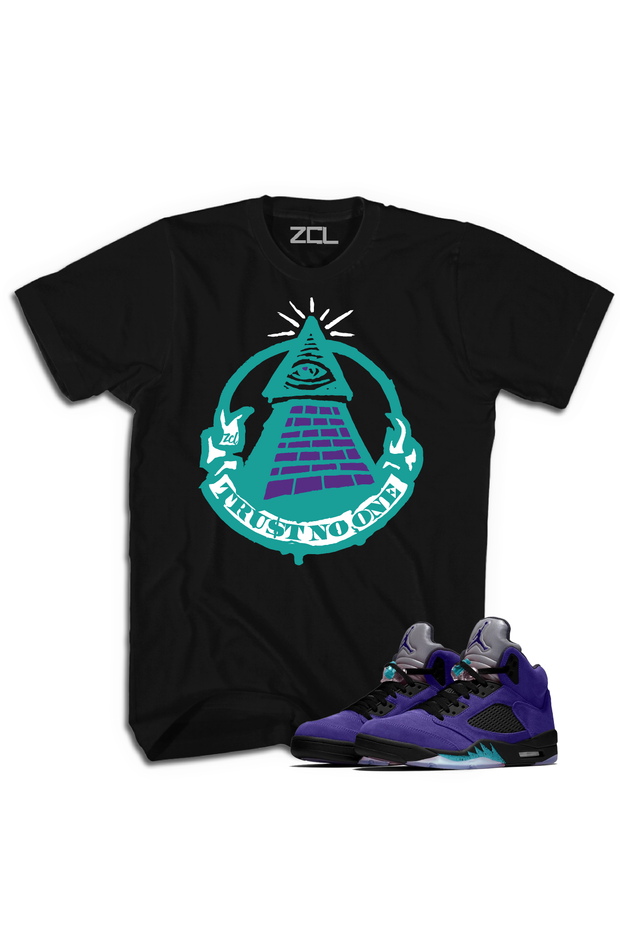 "Air Jordan 5 Retro ""Trust No One"" Tee Purple Grape"