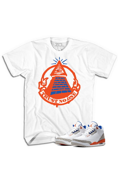 "Air Jordan 3 ""Trust No One"" Tee Knicks Rival"