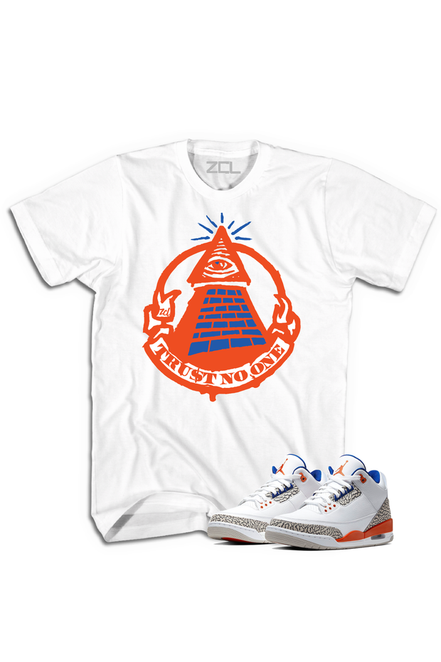 "Air Jordan 3 ""Trust No One"" Tee Knicks Rival - Zamage"