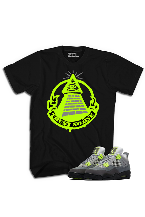 "Air Jordan 4 ""Trust No One"" Tee Neon - Zamage"