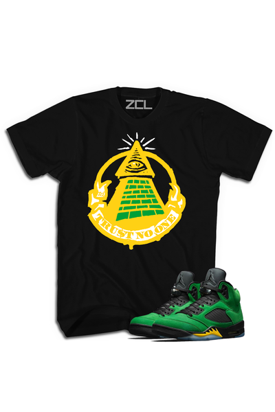 "Air Jordan 5 ""Trust No One"" Tee Oregon Apple Green - Zamage"