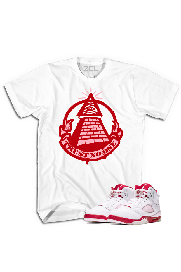 "Air Jordan 5 GS ""Trust No One"" Tee Pink Foam - Zamage"
