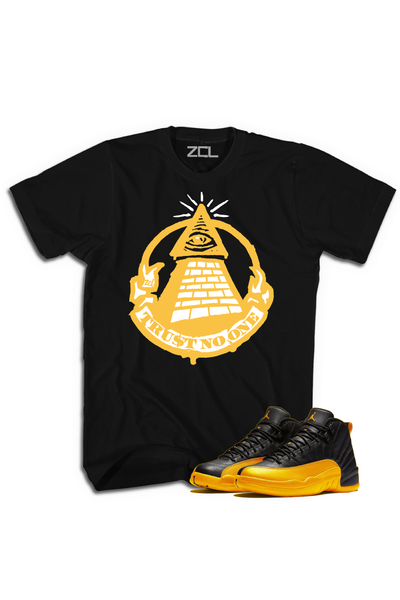 "Air Jordan Retro 12 ""Trust No One"" Tee University Gold"