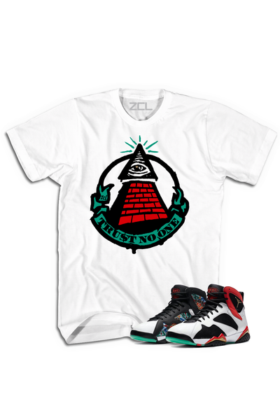 "Air Jordan 7 China ""Trust No One"" Tee Chile Red - Zamage"