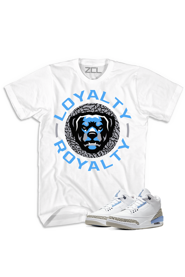 "ZCL Loyalty-Royalty ""UNC"" Jordan 3 HookUp Tee White - Zamage"