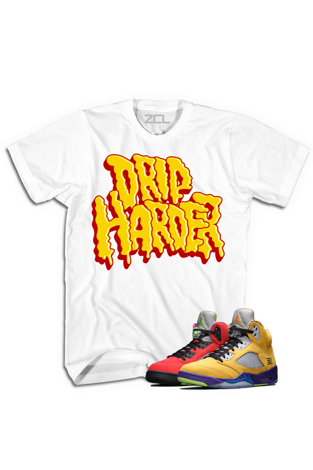 "Air Jordan 5 ""Drip Harder"" Tee What The - Zamage"