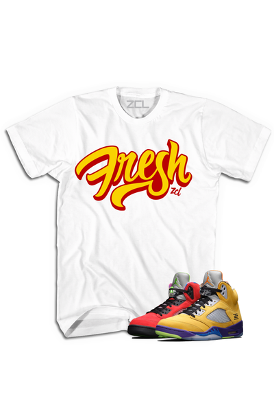 "Air Jordan 5 ""Fresh"" Tee What The - Zamage"