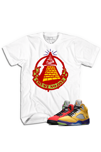 "Air Jordan 5 ""Trust No One"" Tee What The - Zamage"