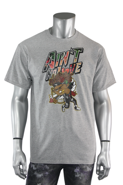 Aint No Love Cupid Tee Athletic Grey (DS5065) - Zamage