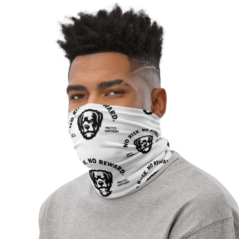No Risk No Reward Face Mask Neck Gaiter White - Zamage