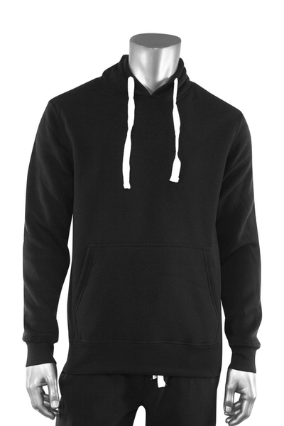 Basic Fleece Pullover Hoodie Black (F790) - Zamage