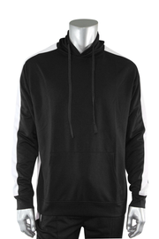 Premium Side Stripe Hoodie Black - White (ZCM4419Z) - Zamage