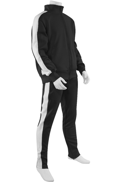 Boys Track Suit Black - White (800-801) - Zamage